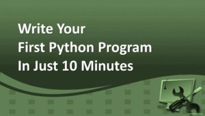 How To Write Your First Python Program In Just 10 Minutes