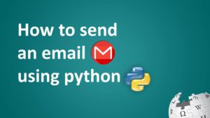 How to send an email using python