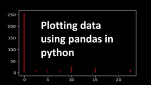 Plotting data using pandas in python